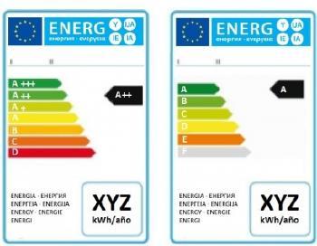 Anterior etiqueta energética y la nueva impuesta por la UE.