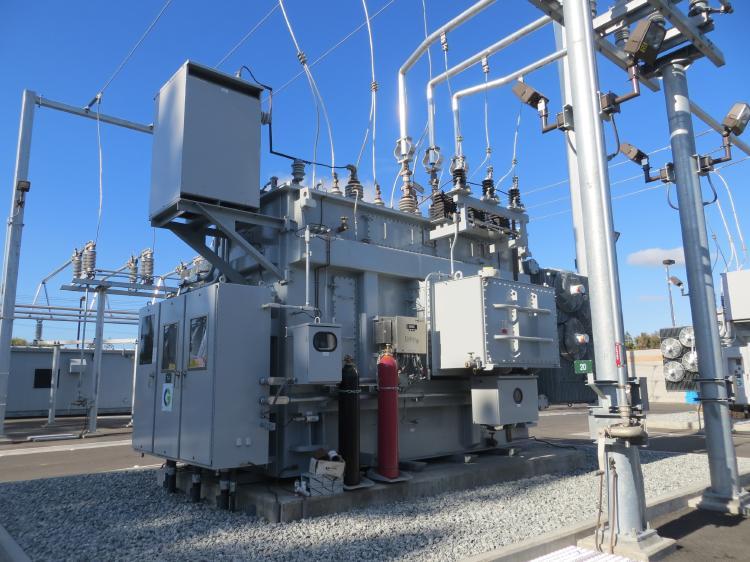 Instalación de distribución eléctrica.