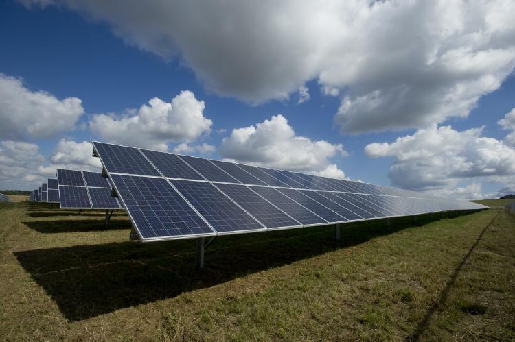 Paneles de captación de energía solar.